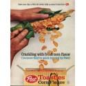 "1962 Post Toasties Corn Flakes Ad ""Crackling"""