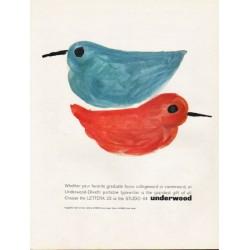 "1962 Underwood-Olivetti Typewriter Ad ""your favorite graduate"""