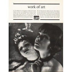 "1962 LIFE Magazine Ad ""work of art"""
