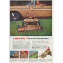 """1958 Lawn-Boy Ad """"tailor-trims the most uneven lawns!"""""""