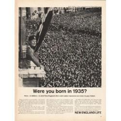 "1962 New England Mutual Life Insurance Company Ad ""1935"""