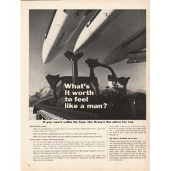 "1962 United States Army Ad ""feel like a man"""