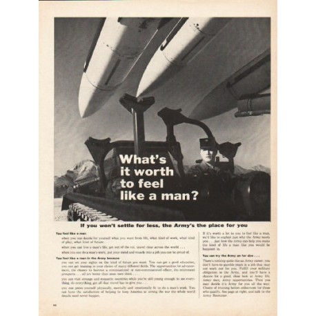 "1962 United States Army Ad ""feel like a man"""