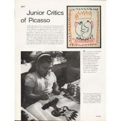 1962 Picasso Article ~ Junior Critics of Picasso