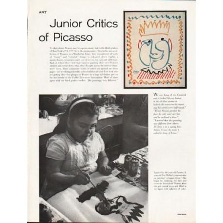 1962 Picasso Article ~ Junior Critics of Picasso