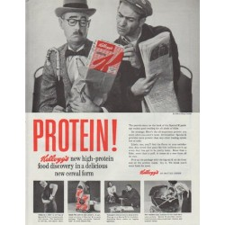 "1958 Kellogg's Cereal Ad ""Protein!"""