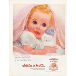 "1962 Northern Tissue Ad ""Softness is Northern"""