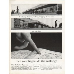 "1962 Yellow Pages Ad ""walking, shopping, walking, shopping"""