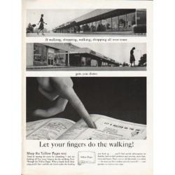 "1962 Yellow Pages Ad ""walking, shopping, walking, shopping"""