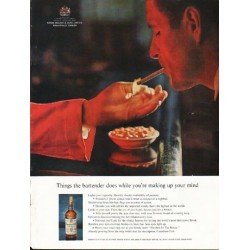 "1962 Canadian Club Whisky Ad ""Things the bartender does"""
