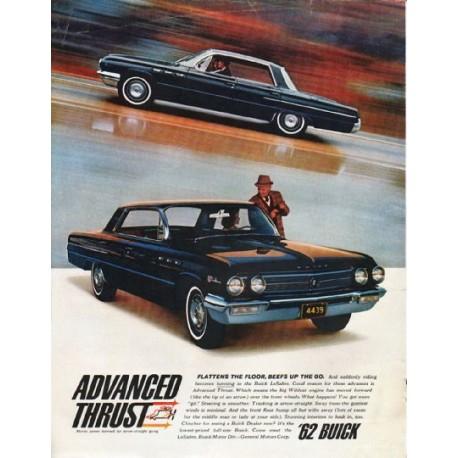 "1962 Buick LeSabre Ad ""Advanced Thrust"" ~ (model year 1962)"