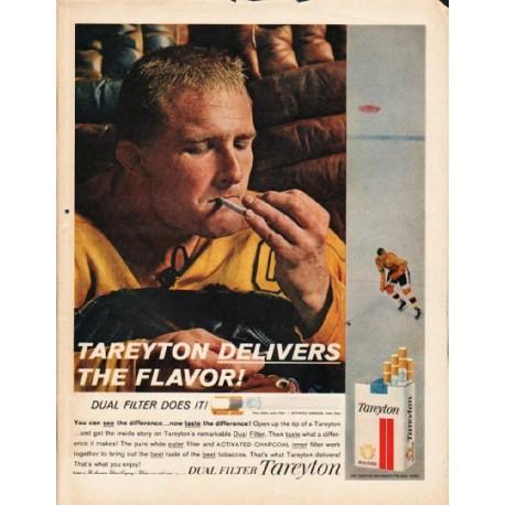 "1962 Tareyton Cigarettes Ad ""Tareyton Delivers"""