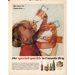 "1962 Canada Dry True-Fruit Orange Ad ""face is America"""