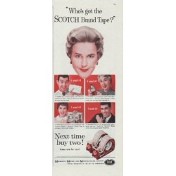 "1958 Scotch Tape Ad ""Who's got the SCOTCH Brand Tape?"""