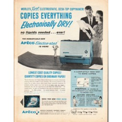 "1962 Apeco Electro-Stat Copier Ad ""Copies Everything"""