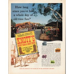 "1962 Knott's Berry Farm & Ghost Town Ad ""Calico Mountain Gold Mine"""