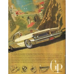 "1962 Pontiac Grand Prix Ad ""eats mountains for breakfast"" ~ (model year 1962)"