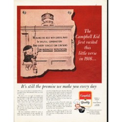 "1962 Campbell's Soup Ad ""The Campbell Kid"""