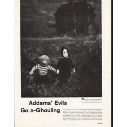 1962 Addams' Family Article ~ Go a-Ghouling