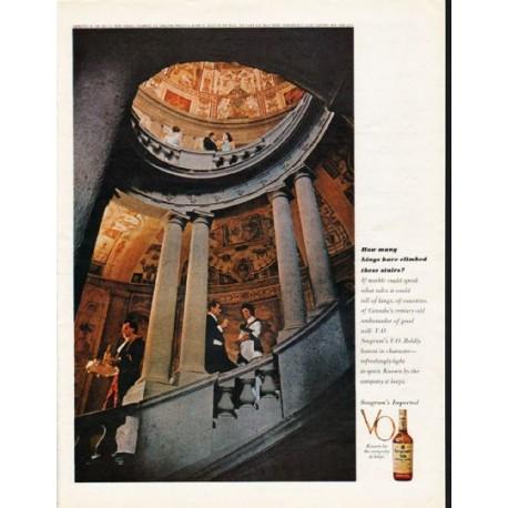 "1962 Seagram's V.O. Canadian Whisky Ad ""How many kings"""