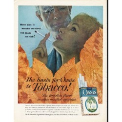 "1962 Oasis Cigarettes Ad ""smoke so cool"""