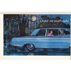 "1962 Ford Galaxie Ad ""Quiet as midnight"" ~ (model year 1962)"