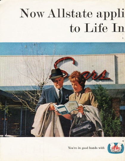 "1962 Allstate Life Insurance Vintage Ad ""the Sears Idea"""