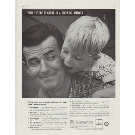 "1958 Advertising Council Ad ""Your future is great in a growing America"""