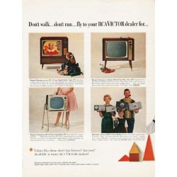 "1962 RCA Victor Television Ad ""Don't walk"""