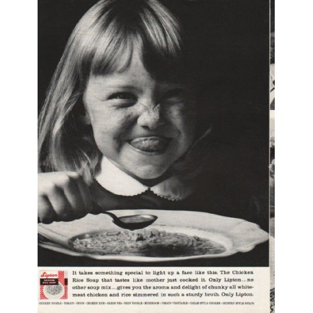 """1962 Lipton Chicken Rice Soup Ad """"something special"""""""