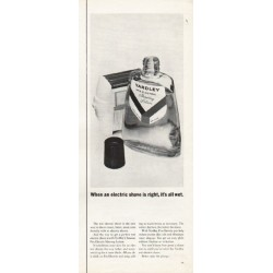 "1962 Yardley Shaving Lotion Ad ""it's all wet"""