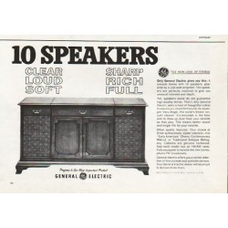 "1962 General Electric Stereo Ad ""10 Speakers"""