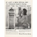 "1962 Wizard Nursery Spray Ad ""new special way"""