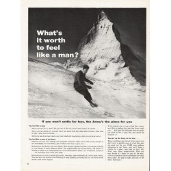 """1962 U.S. Army Ad """"What's it worth"""""""