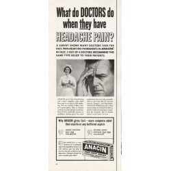 "1962 Anacin Analgesic Tablets Ad ""What do DOCTORS do"""