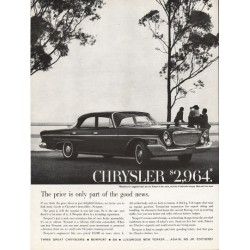 "1962 Chrysler Newport Ad ""part of the good news"" ~ (model year 1962)"