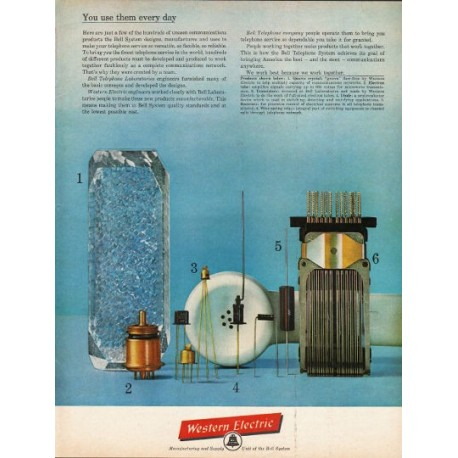 "1962 Western Electric Ad ""use them every day"""