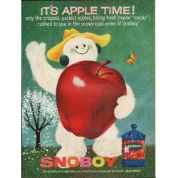 "1962 Snoboy Apples Ad ""never ""mealy"""""