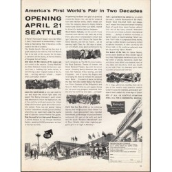 "1962 Seattle World's Fair Ad ""America's First World's Fair in Two Decades"""