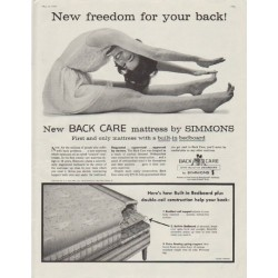 "1958 Simmons Ad ""New freedom for your back!"""