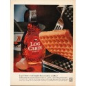 "1962 Log Cabin Maple Syrup Ad ""real maple flavor"""