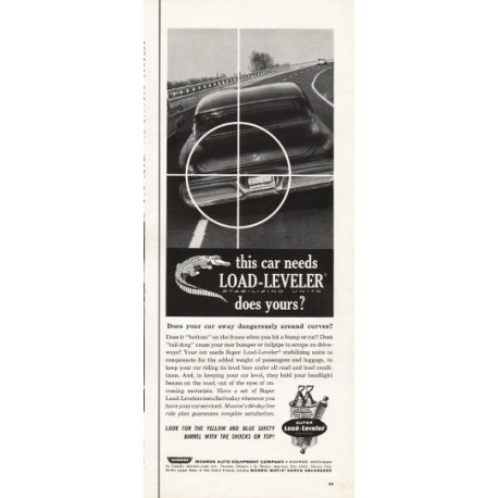 "1962 Monroe Shock Absorbers Ad ""Load-Leveler"""
