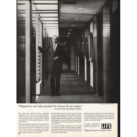 """1962 LIFE Magazine Ad """"help marshal the forces"""""""