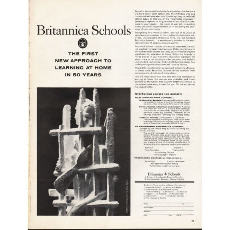 """1962 Britannica Schools Ad """"The First New Approach"""""""
