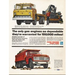 "1962 Ford Trucks Ad ""The only gas engines"" ~ (model year 1962)"