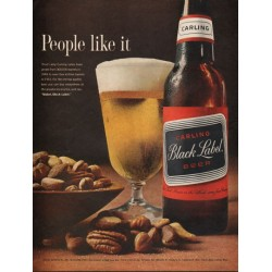 "1962 Carling Black Label Beer Ad ""People like it"""