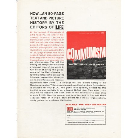 """1962 Communism Booklet Ad """"The Nature Of Your Enemy"""" ~ by John K. Jessup"""