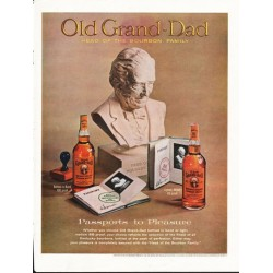 "1962 Old Grand-Dad Whiskey Ad ""Passports to Pleasure"""