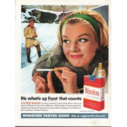 "1962 Winston Cigarettes Ad ""what's up front"""