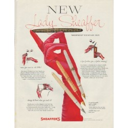 "1958 Sheaffer's Ad ""Lady Sheaffer"""